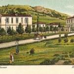 Γκραβούρα του Δρομοκαϊτείου με την αρχέγονη Ιερά Οδός  αρχές του 20Ο αιώνα με την αρχική ονομασία της περιοχής Δαφνί