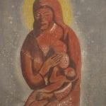 Ελαιογραφία έργο του Αριστείδη Λάβδα , η Παναγία η Γαλακτοφούσα