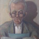 Ελαιογραφία έργο του βαλεντίνου Ίλβες 1950