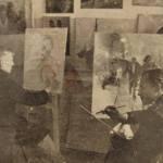 Οι ζωγραφοι Βαλεντίνος Ιλβες  (αριστερά) και Ανδρέας Κριστάλης (δεξιά) 1950